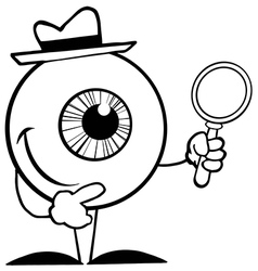 Cartoon eyeball vector