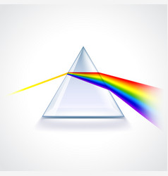 Spectrum prism isolated on white vector