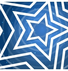 White star application on blue background f vector image