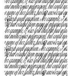 Handwritten text vector