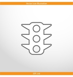 Traffic light web flat icon vector