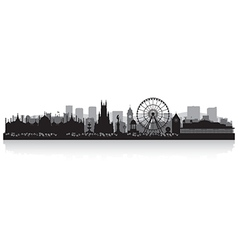 Brighton city skyline silhouette vector