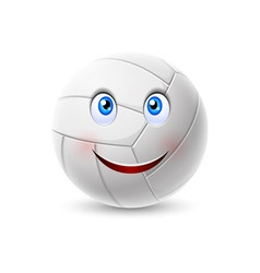 Volleyball ball cartoon character vector