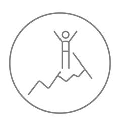 Climbing line icon vector image
