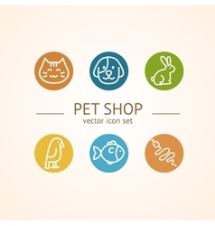 Pet shop concept vector