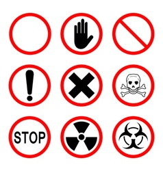 Limiting and warning signs vector