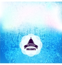 Frozen frost background texture glass snow vector