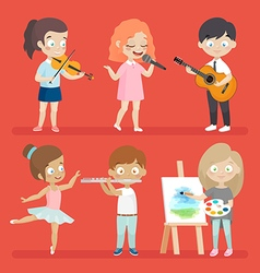 Creative kids vector