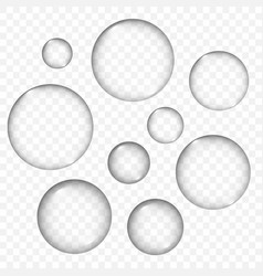 air bubbles texture set isolated vector image