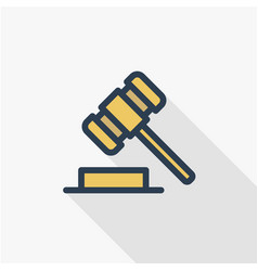 auction hammer law and justice symbol verdict vector image vector image