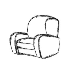 chair sofa seat image sketch vector image
