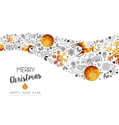 Christmas and New Year gold low poly background vector image vector image