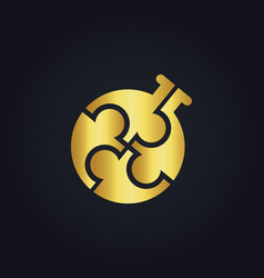 Circle gold group bottle logo vector