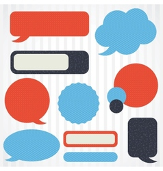 Collection of retro speech bubbles and dialog vector image vector image