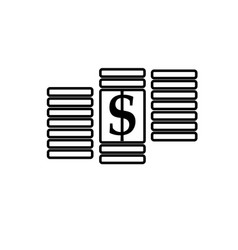 dollar cent money icon vector image vector image