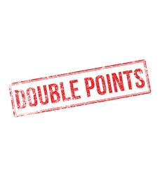 Double points red rubber stamp on white vector