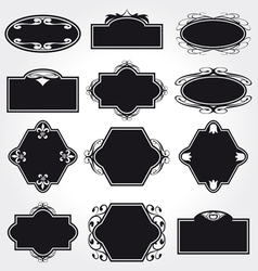 frame set ornamental vintage decoration vector image vector image