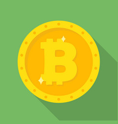 gold bitcoin coin icon vector image