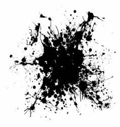 grunge ink splat vector image