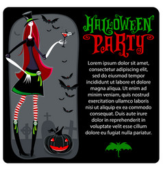 halloween witch template halloween series vector image vector image