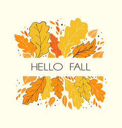 Hello fall card vector