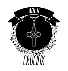 Holy crucifix design vector