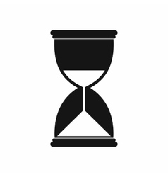 Hourglass icon in simple style vector image