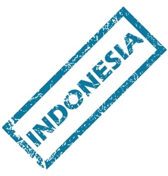 Indonesia rubber stamp vector image vector image