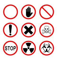 Limiting and warning signs vector