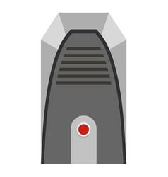 Modern heater icon isolated vector