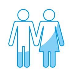 Pictogram couple design vector
