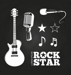 rock star or musician elements set vector image vector image