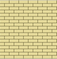 Seamless Pattern of Yellow Brick vector image