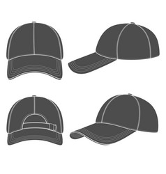 set of with a baseball cap vector image vector image