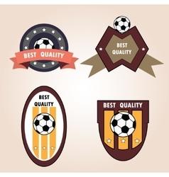 Set soccer football emblems vector
