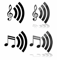 Streaming music vector image vector image