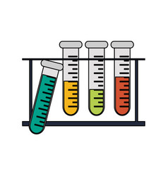 test tube science icon image vector image vector image