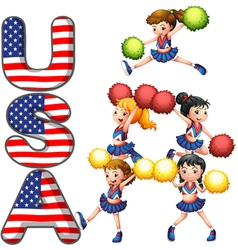 The usa cheering squad vector