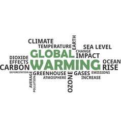 Word cloud - global warming vector
