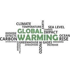 word cloud - global warming vector image vector image