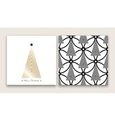 christmas tree in line art 03 vector image