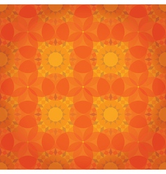Orange abstract floral pattern vector
