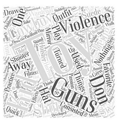 Toy guns word cloud concept vector