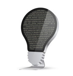 light bulb in the form of a monitor vector image