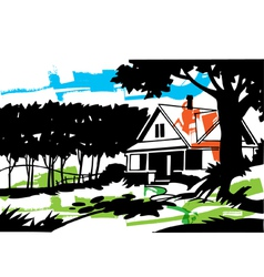Home in the suburbs vector