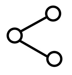 Connection and share icon vector