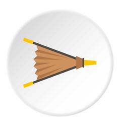 Fire bellows icon circle vector