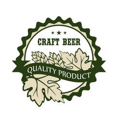 Craft beer design label for a premium product vector