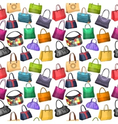 Seamless pattern with womens bags vector