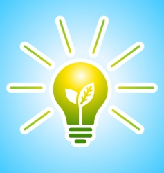 ecology bulb with rays vector image